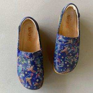 Alegria Blue Print Clog Shoes Sz 37